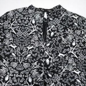 Old Navy Dresses - Woodland Print Smock Dress Rabbits Birds Tapestry